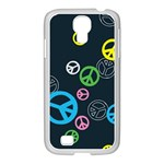Peace & Love Pattern Samsung GALAXY S4 I9500/ I9505 Case (White)