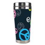 Peace & Love Pattern Stainless Steel Travel Tumblers