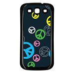 Peace & Love Pattern Samsung Galaxy S3 Back Case (Black)