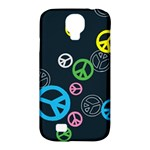 Peace & Love Pattern Samsung Galaxy S4 Classic Hardshell Case (PC+Silicone)