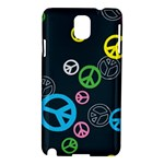 Peace & Love Pattern Samsung Galaxy Note 3 N9005 Hardshell Case