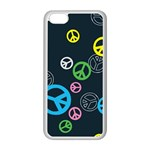 Peace & Love Pattern Apple iPhone 5C Seamless Case (White)