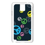 Peace & Love Pattern Samsung Galaxy Note 3 N9005 Case (White)