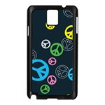 Peace & Love Pattern Samsung Galaxy Note 3 N9005 Case (Black)