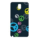 Peace & Love Pattern Samsung Galaxy Note 3 N9005 Hardshell Back Case