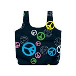 Peace & Love Pattern Full Print Recycle Bags (S)