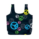 Peace & Love Pattern Full Print Recycle Bags (M)
