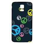 Peace & Love Pattern Samsung Galaxy S5 Back Case (White)