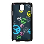 Peace & Love Pattern Samsung Galaxy Note 3 Neo Hardshell Case (Black)