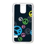 Peace & Love Pattern Samsung Galaxy S5 Case (White)