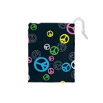 Peace & Love Pattern Drawstring Pouches (Small)