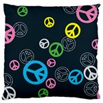 Peace & Love Pattern Large Flano Cushion Case (One Side)