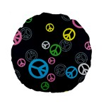 Peace & Love Pattern Standard 15  Premium Flano Round Cushions