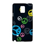 Peace & Love Pattern Samsung Galaxy Note 4 Hardshell Case