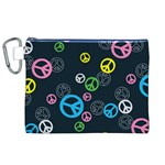Peace & Love Pattern Canvas Cosmetic Bag (XL)