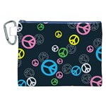 Peace & Love Pattern Canvas Cosmetic Bag (XXL)