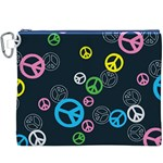 Peace & Love Pattern Canvas Cosmetic Bag (XXXL)