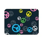 Peace & Love Pattern Double Sided Flano Blanket (Mini)