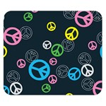 Peace & Love Pattern Double Sided Flano Blanket (Small)