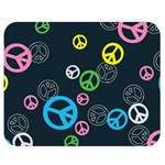 Peace & Love Pattern Double Sided Flano Blanket (Medium)
