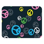 Peace & Love Pattern Double Sided Flano Blanket (Large)
