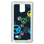 Peace & Love Pattern Samsung Galaxy Note 4 Case (White)