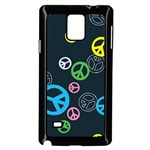 Peace & Love Pattern Samsung Galaxy Note 4 Case (Black)