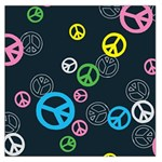 Peace & Love Pattern Large Satin Scarf (Square)