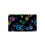 Peace & Love Pattern Cosmetic Bag (XS)