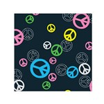 Peace & Love Pattern Small Satin Scarf (Square)