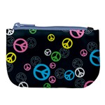 Peace & Love Pattern Large Coin Purse