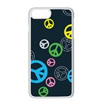 Peace & Love Pattern Apple iPhone 7 Plus White Seamless Case