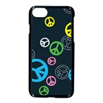 Peace & Love Pattern Apple iPhone 7 Seamless Case (Black)
