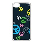 Peace & Love Pattern Apple iPhone 7 Seamless Case (White)