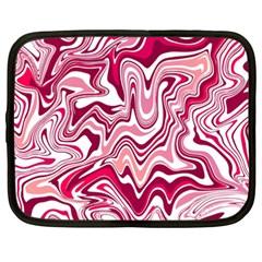 Pink Marble Pattern Netbook Case (xxl)  by tarastyle