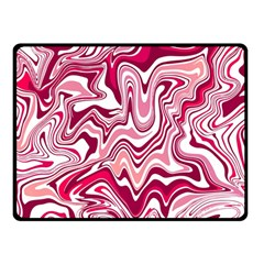 Pink Marble Pattern Double Sided Fleece Blanket (small)  by tarastyle