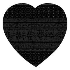 Pattern Jigsaw Puzzle (heart) by Valentinaart