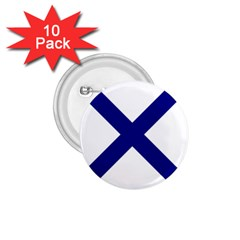 Saint Andrew s Cross 1 75  Buttons (10 Pack) by abbeyz71