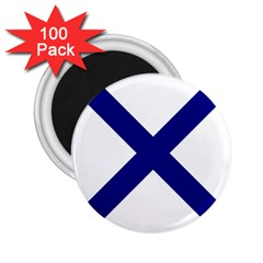 Saint Andrew s Cross 2 25  Magnets (100 Pack)  by abbeyz71