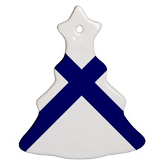 Saint Andrew s Cross Christmas Tree Ornament (two Sides) by abbeyz71