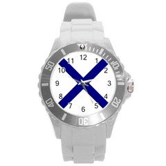 Saint Andrew s Cross Round Plastic Sport Watch (l) by abbeyz71