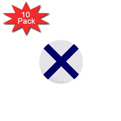 Saint Andrew s Cross 1  Mini Buttons (10 Pack)  by abbeyz71