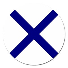 Saint Andrew s Cross Magnet 5  (round) by abbeyz71