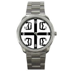 Serbian Cross Sport Metal Watch by abbeyz71