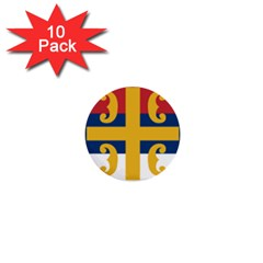 Flag Of The Serbian Orthodox Church 1  Mini Buttons (10 Pack)  by abbeyz71