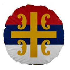 Flag Of The Serbian Orthodox Church Large 18  Premium Flano Round Cushions by abbeyz71