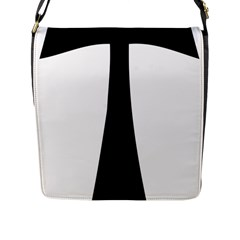 Tau Cross  Flap Messenger Bag (l)  by abbeyz71