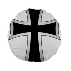 Cross Of The Teutonic Order Standard 15  Premium Flano Round Cushions by abbeyz71