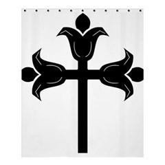 Caucasian Albanian Cross Shower Curtain 60  X 72  (medium)  by abbeyz71