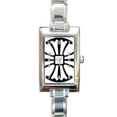 Canterbury Cross  Rectangle Italian Charm Watch by abbeyz71